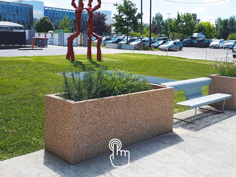 Jardinière béton pour vos aménagements urbains SOTUBEMA