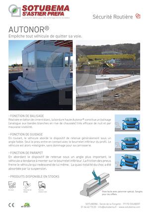 Bordures béton pour protection de voies urbaines AUTONOR® -  SOTUBEMA