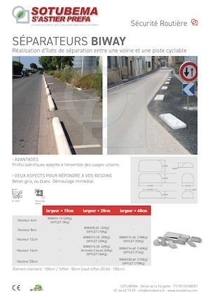 Séparation de voies urbaines