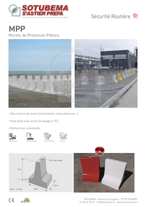 Muret de protection piétons MPP SOTUBEMA