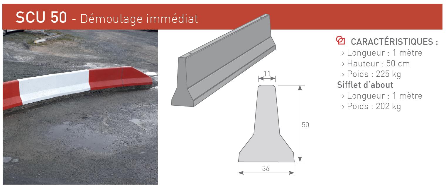 Séparateurs de circulation et de protection béton SCU 50 - SOTUBEMA
