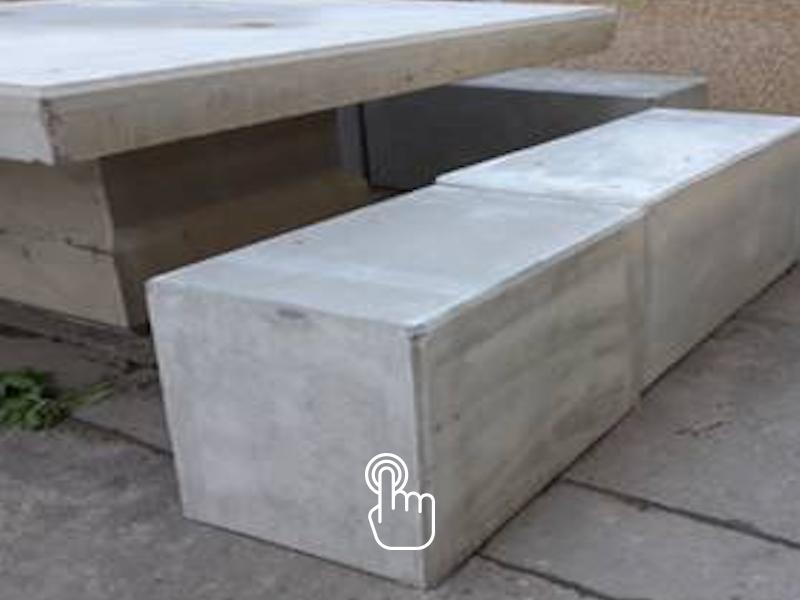 BLOC SOTU'BANC® - Mobilier urbain et solution d'assise pour vos espaces verts. SOTUBEMA