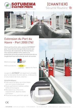 Extension du Port du Havre - Gamme AUTONOR® - SOTUBEMA