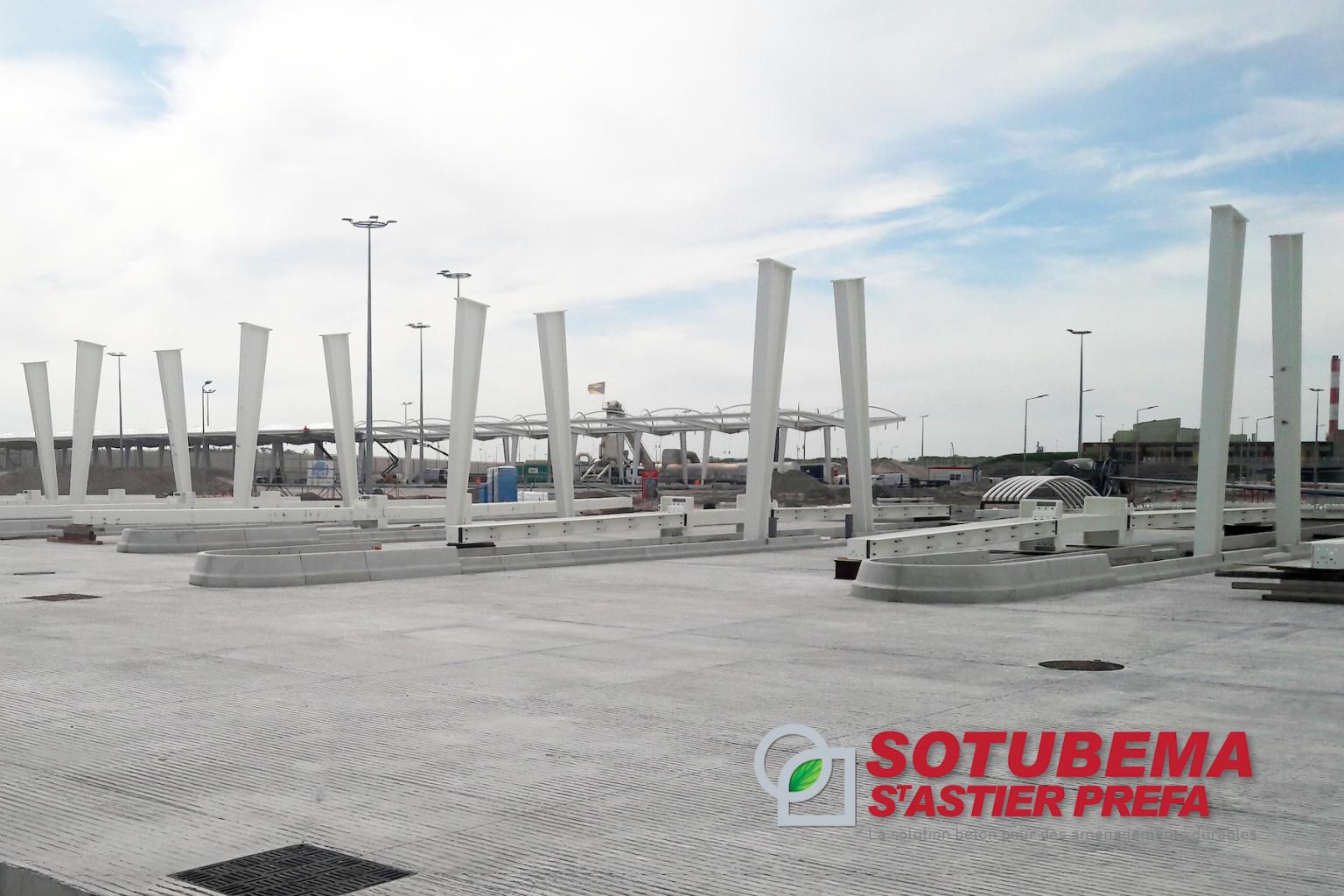 Extension du Port de Calais (62) - Eléments BUSWAY® courbes ou droits et MINIGUID - SOTUBEMA